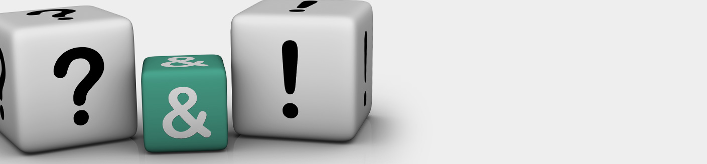 קוביות עם סימן שאלה וסימן קריאה