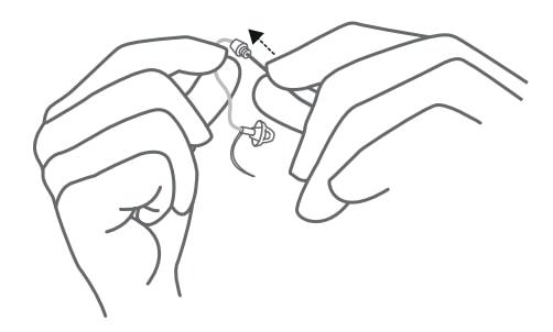 ניקוי צינורית של מכשיר שמיעה